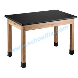 Black High-Pressure Laminate Table Workstation without Book Box