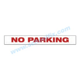 22in. x 4-1/2in. Reflective No Parking Barricade Aluminum Sign, a product you can find on SchoolFix's catalog of portable indoor & outdoor barricades
