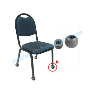 Q-Ball Chair Glide - 2 Piece for Square Tubing Q322 Q512