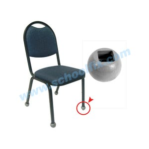 Q-Ball Chair Glides for Chairs with Square Tubing Floor Savers