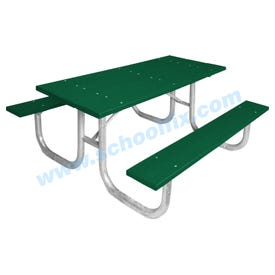 Portable Picnic Table with Recycled Plastic Planks