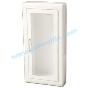 White Recessed Fire Extinguisher Cabinet