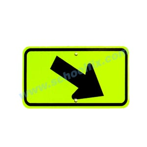 24in. x 12in. MUTCD Compliant Downward Diagonal Right Arrow Part No. MC46