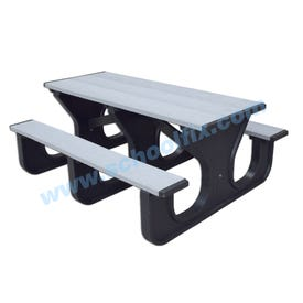 Durable Plastic Composite Rectangle Picnic Table