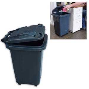 Mobile Roll Away 13 Gallon Capacity Trash Can with Lid RV9