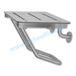 Seat 18in X 16in Solid Plastic Top Stainless Steel Frame