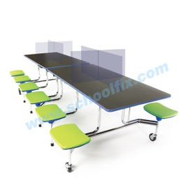 Safety Sneeze Guards - Configurable Cafeteria Table Panels