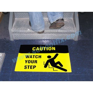 Caution Watch Your Step Anti-Slip Floor Sticker