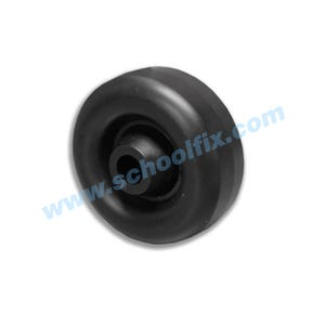 Replacement Wheel for 56JJ 3in. Hard Rubber Wheel Fits 1/2in. Axle ST74