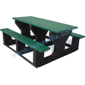 6ft or 8ft Long Super Durable Plastic Composite Portable Outdoor Picnic Table