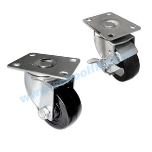 Swivel Plate Top Semi Hard Wheel Replacement Heavy Duty Casters