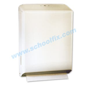 Paper Towel Cabinet White Metal