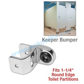 Universal Keeper Bumper for Round Edge Bathroom Stall Parts TGE826