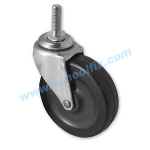 Threaded Stem Single Hard Wheel Casters Furniture Repair Parts