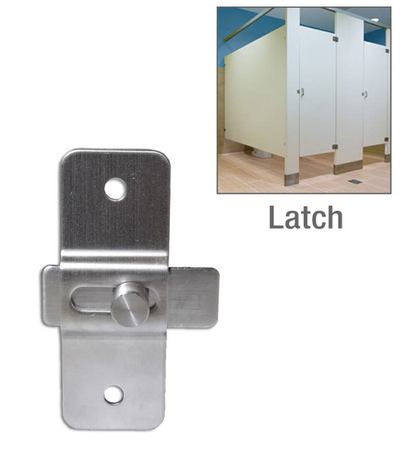 Stainless Steel Slide Latch With 2 3/4in. Screw Holes