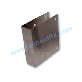 Stainless Steel Latch Cover Plate, 1 in. Thick, Square Edge