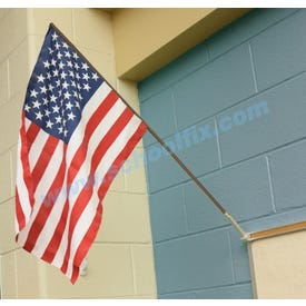 US Flags for Indoor Classroom Made of Nylon Includes Wooden Staff