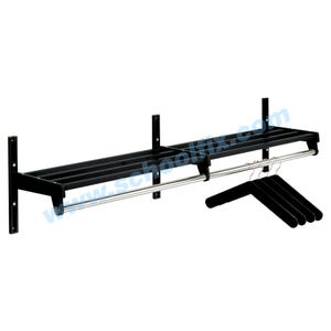 Part No. MGH2, MGH4, MGH5, MGH6, MGH8, MGH10, MGH12, MGH16 Single Shelf Steel Hanger & Rail Coat Rack