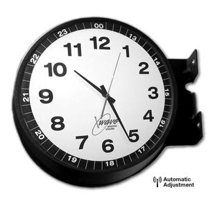 16in. Double Faced Military Style Clock