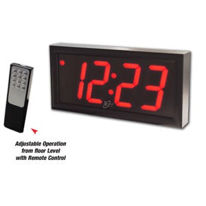 Digital Clock 12in x 6in LED Display Clock with 4in. Red Display X98