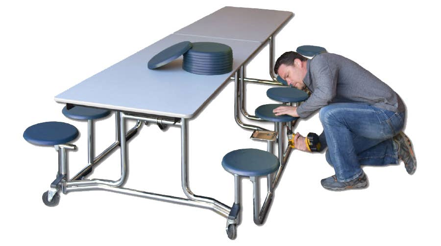 How to Renovate Your Cafeteria Tables & Save Your School Money