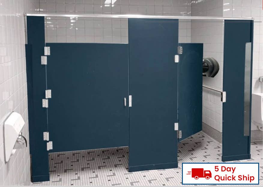 Choose from these select partition materials for your restroom - solid plastic, phenolic, or stainless steel