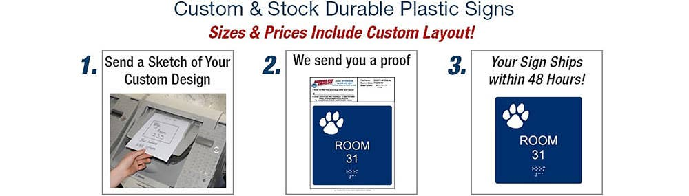 Custom & Stock Plastic Signs