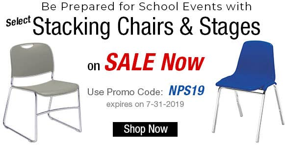 Be Prepared for School Events with Select Stacking Chairs & Stages on SALE Now!