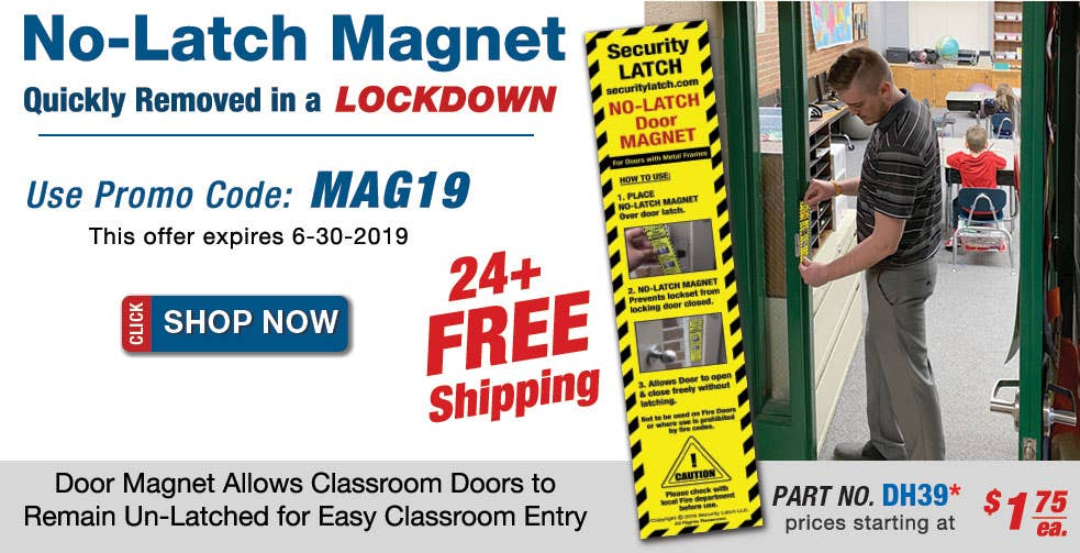No-Latch Door Magnets Allow Classroom Doors to Open Freely without Latching