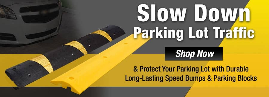 Control Parking Lot Traffic with Speed Bumps & Parking Blocks for a Safe School Environment