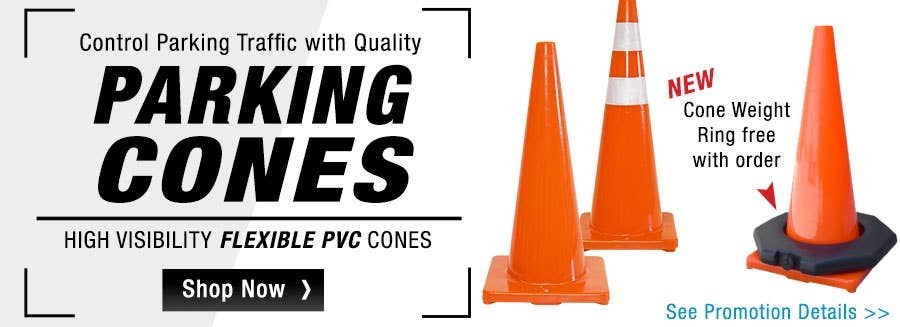 Spend $149+ in Parking Cones and get a Free Cone Accessory