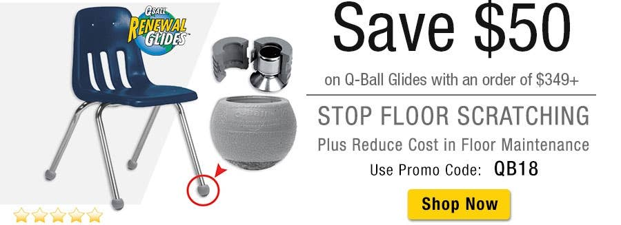 SAVE $50 on Q-Ball Glides with a purchase of $349+ Use Promo Code: QB18