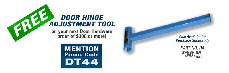 Free Tools with Select School Fix Product Orders - Door Hinge Adjustment Tool
